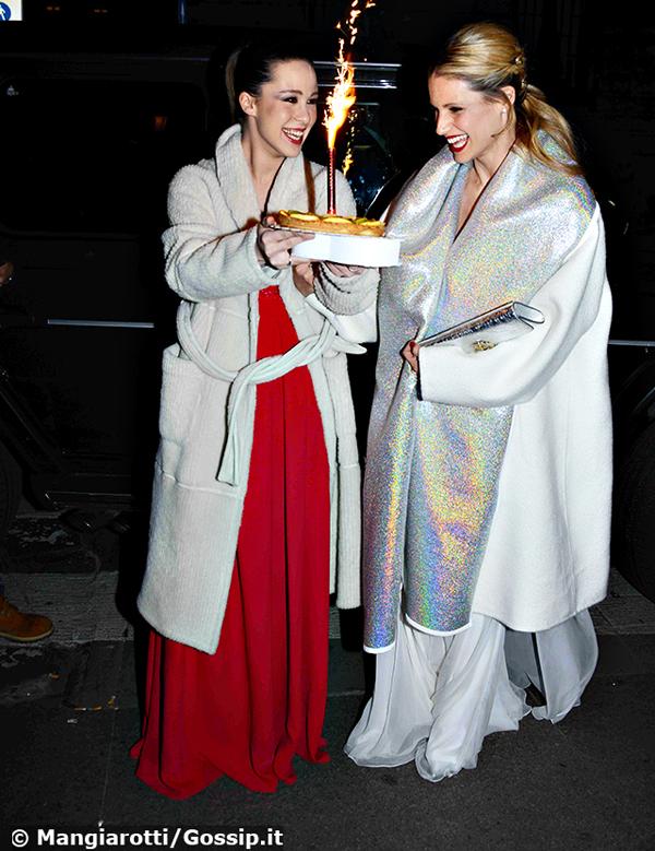 Michelle Hunziker festeggia 40 anni insieme alla figlia Aurora