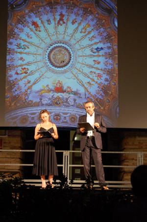 Barbara Olmai di VideoTolentino e Massimo Zenobi