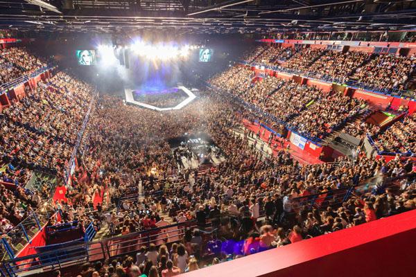 La grande arena cetrale del Mediolanum Forum
