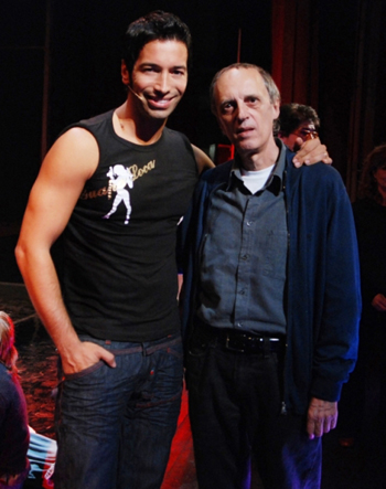 Michel Altieri con Dario Argento