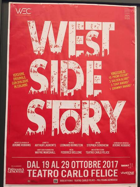 Il manifesto di West Side Story a Genva
