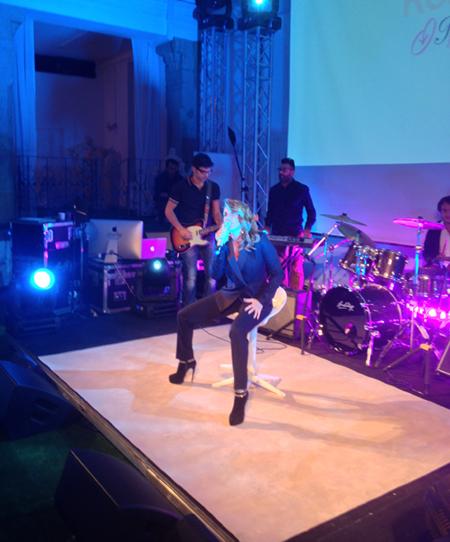 Arianna durante un'esibizione