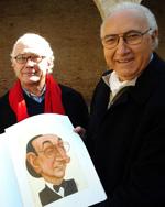Saverio Marconi e Pippo Baudo al Castello della Rancia