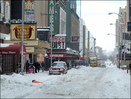 Broasway dopo la tempesta di neve