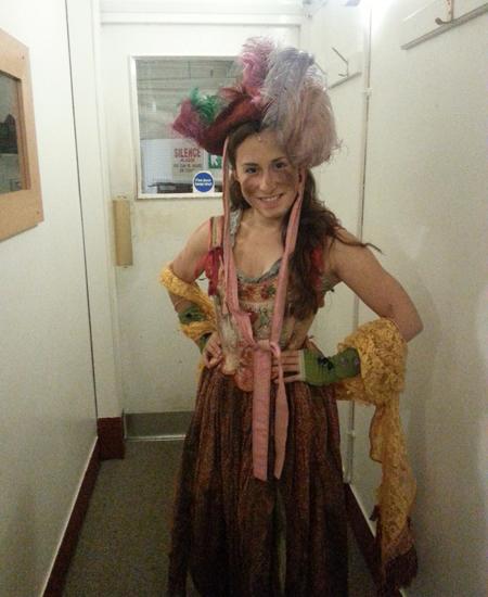"""Carolina Di Gregorio nel backstage di """"Les Miserables"""" a Londra"""