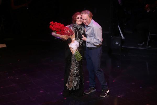 Glenn Close con Andrew Lloyd Webber
