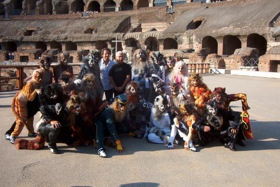Cats nella presentazione al Colosseo di Roma a settembre 2009