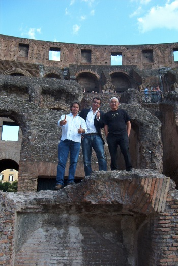 Daniel Ezralow, Francesco Martini Coveri e Saverio Marconi al Colosseo di Roma