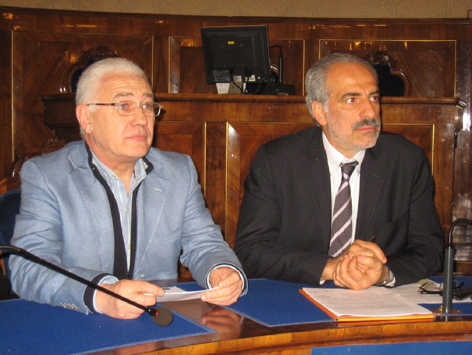 Un momento della conferenza stampa presso la Provincia di Macerata