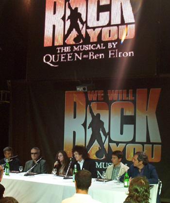 """La conferenza stampa di """"We Will Rock You"""""""