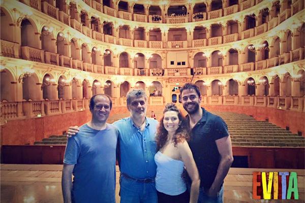 da sinistra Andrea Spina, Gianni Marras, Clara Maselli e Filippo Strocchi