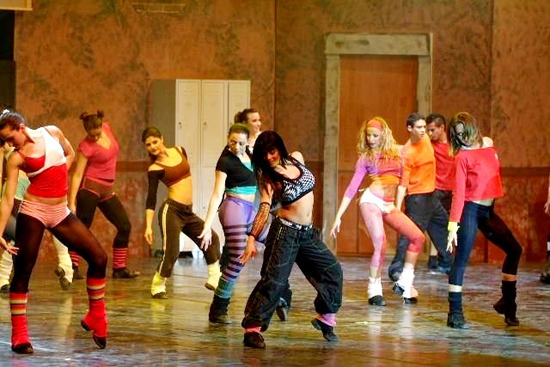 """Una foto di scena da """"Fame"""", edizione 2009"""