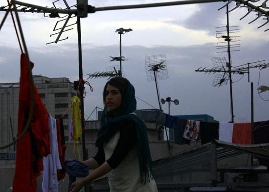 Una foto di scena dal film