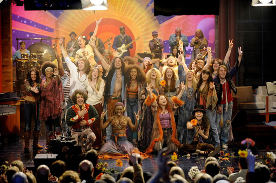 """Il cast di """"Hair"""" al Late Show di David Letterman"""