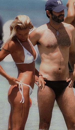Michelle Hunziker e Daniele Pecci in una foto del 2007