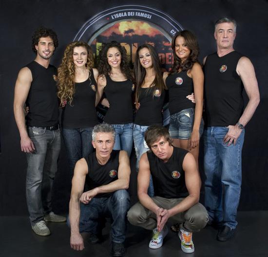 Il cast princiaple dell'Isola dei famosi 2011