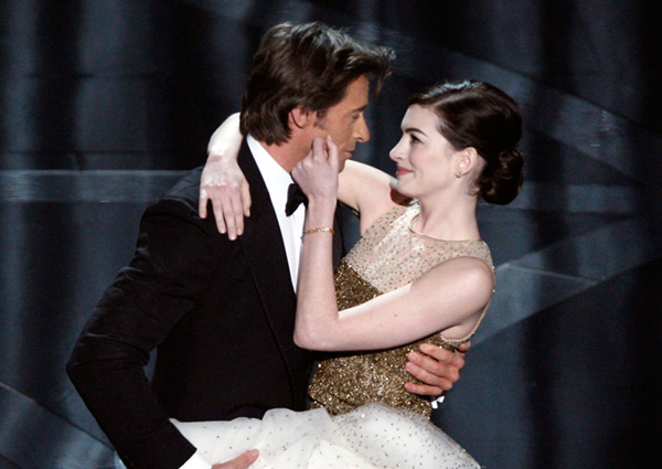 Hugh Jackman e Anne Hathaway