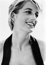 L'immagine di Lady Diana utilizzata per promuovere il concerto (foto di Mario Testino)