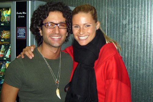 Edoardo Luttazzi (Giuda) con Michelle Hunziker (Foto www.davico.it)