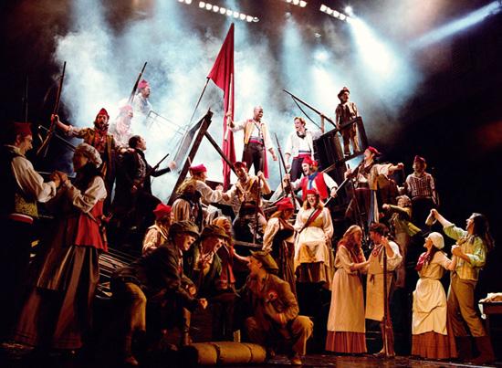 Una foto di scena del musical
