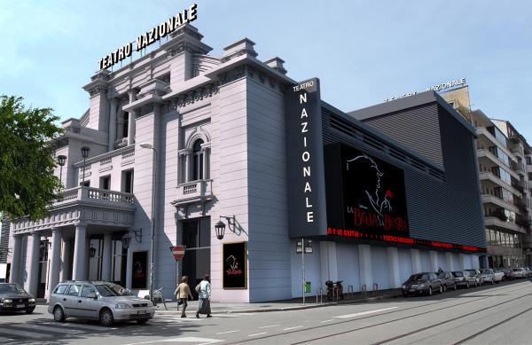 Come diventerà l'esterno del Teatro Nazionale di Milano al termine dei lavori