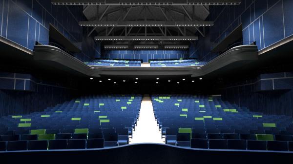Come diventerà l'interno del Teatro Nazionale di Milano al termine dei lavori