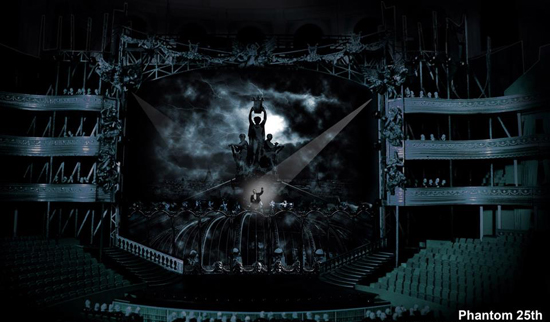 Il bozzetto della scenografia per la Royal Albert Hall