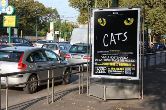 La campagna di Cats a Milano con il QRcode