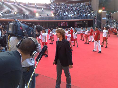 Jacopo Sarno sul tappeto rosso