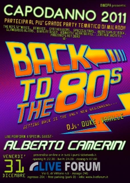 La locandina di Back to 80's Patry al Live Forum