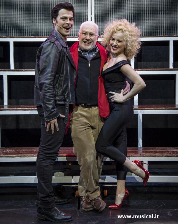 Saverio Marconi tra Guglielmo Scilla (Danny) e Lucia Blanco (Sandy)