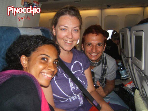Daniela Pobega, Silvia di Stefano, Angelo di Figlia in aereo