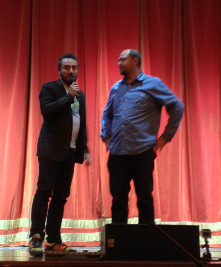 I registi Claudio Insegno e Ned Grujic