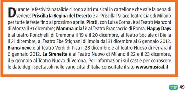 """Da """"Sorrisi e Canzoni TV"""" in edicola dal 20/12/2011"""