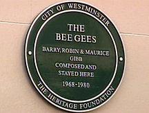 La targa per i Bee Gees a Londra
