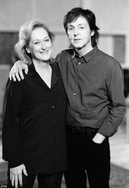 Meryl Streep e Paul McCartney