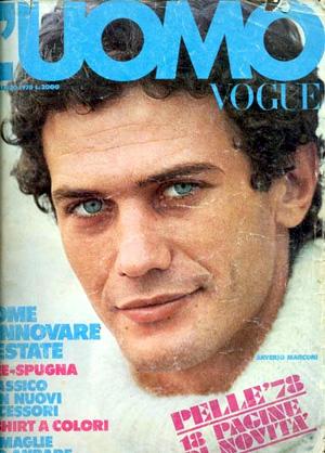 """Saverio Marconi sulla copertina di """"Vogue Uomo"""" nel 1978"""