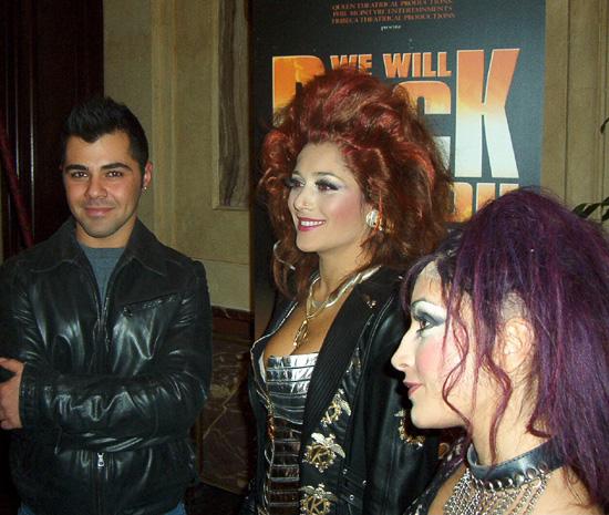 Il cast di We Will Rock You (Salvo Vinci, Valentina Ferrari)