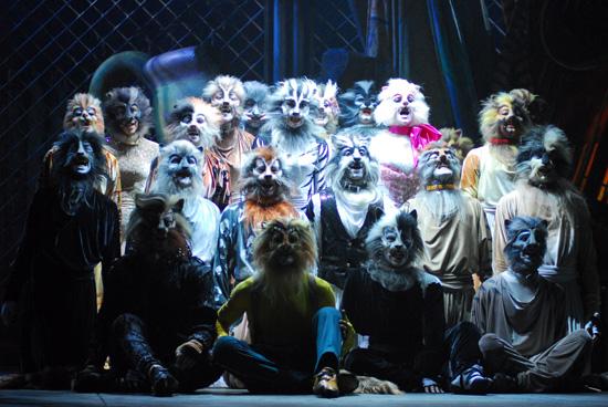 """Una foto di scena da """"Cats"""" (foto Alessandro Pinna)"""