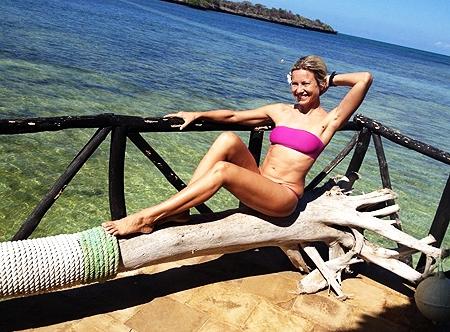 La Elia in bikini in Kenya
